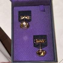 Мужские золотые запонки S. T. Dupont, в Москве