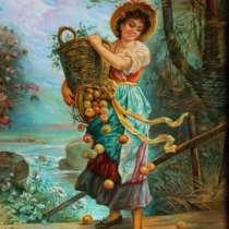 Девушка с яблоками, в Ростове-на-Дону