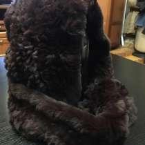 Капюшон из вязанного натурального меха, в Москве