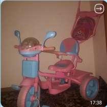Трехколесный розовый велосипед, в Новотроицке