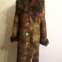 Дубленка натуральная. Овчина, 44-46 размер, в Омске