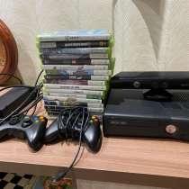 Xbox 360+ Kinect+18 дисков, в Омске