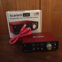 Внешняя звуковая карта Focusrite Scarlett Solo 2nd, в Ульяновске