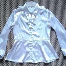Блуза белая для девочки 8-11 лет, в Омске
