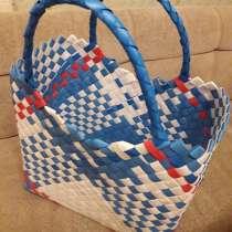 Продам плетёные корзинки из полипропиленовой ленты, в Пушкино