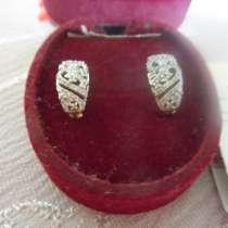 Золотые серьги с бриллиантами, в Тюмени