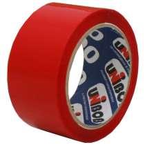Клейкая лента упаковочная 48мм*66м UNIBOB 600 (красная), в Краснодаре