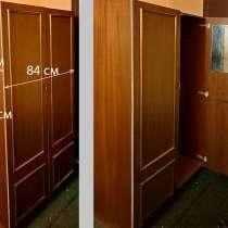 Шкаф б/у платяной с антресолью, советский, в Москве