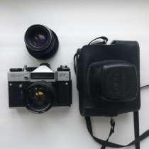 Zenit фотоаппарат со вспышкой и дополнительным объективом, в Костроме