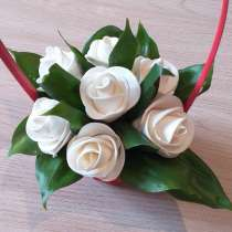 Съедобные розы из мастики с кокосовой начинкой, в Красноярске
