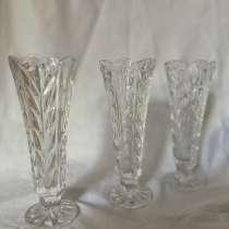 Винтажные хрустальные бокалы с резьбой, красивой формы, в г.Шымкент
