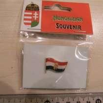 Значок. флаг Венгрии с гербом, желт. тяж. мет, в г.Ереван
