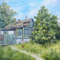 Картина - Лето в деревне, в Москве
