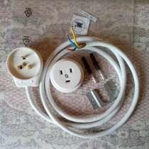 Розетка, вилка, кабель для электроплиты. Новые, в Новосибирске