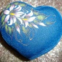 Шкатулка большая синяя с цветком, новая, в г.Брест