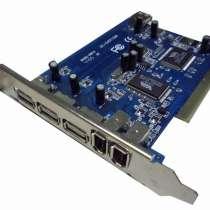 PCI контроллер USB + FireWire (VIA Combo), в Москве