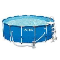 Продам бассейн каркасный Intex Metal Frame, в Екатеринбурге
