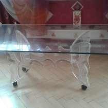 Журнальный стол, каленое стекло, в Москве