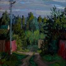Закат над лесом, в Москве