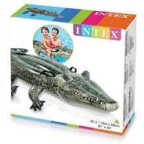 """Игрушка для плавания """"Аллигатор"""", 170х86 см, от 3 лет INTEX, в г.Алматы"""