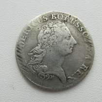 1/3 талера 1772 Пруссия, в Оренбурге