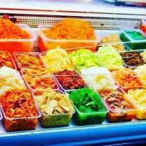 Корейские салаты большой ассортимент рынок Кайкармет т. Галя, в г.Тараз