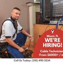 ATN Cable нанимает на работу кабельных техников, в г.Майами