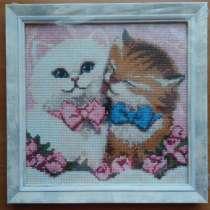 """Картина """"кот и кошка"""" (алмазная мозаика), в г.Брест"""