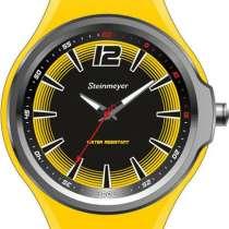 Наручные жёлтые часы Steinmeyer, в Москве