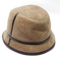 Панама мужская меховая зимняя шляпа (табачный), в Москве