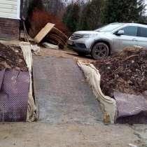 Площадка для авто и укладка бетонных блоков в Ступино, в Ступино