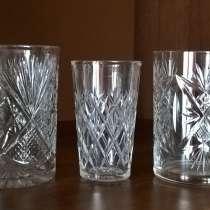 Хрустальные стаканы и стопка чешский хрусталь времен СССР, в Новосибирске