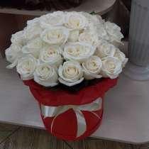 Розы в коробке, в Иркутске