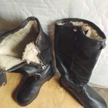 Продаю коженые сапоги на меху, в Лабытнанги