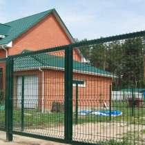 Ворота распашные, заполнение 3D панель, в Пензе