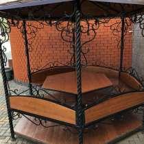 Беседка Кованная с деревяными лавочками и столом, в Белгороде