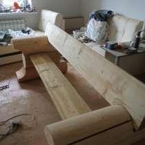 Продаю лавку из цилиндрического бревна для сада бани для дач, в Твери