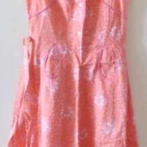 Платье ситцевое с пояском, розовое, примерно на р.42-44, в г.Брест