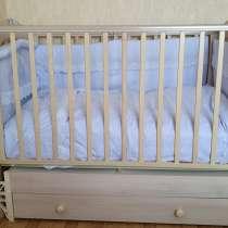 Детская кроватка, матрас, бортики, в Москве