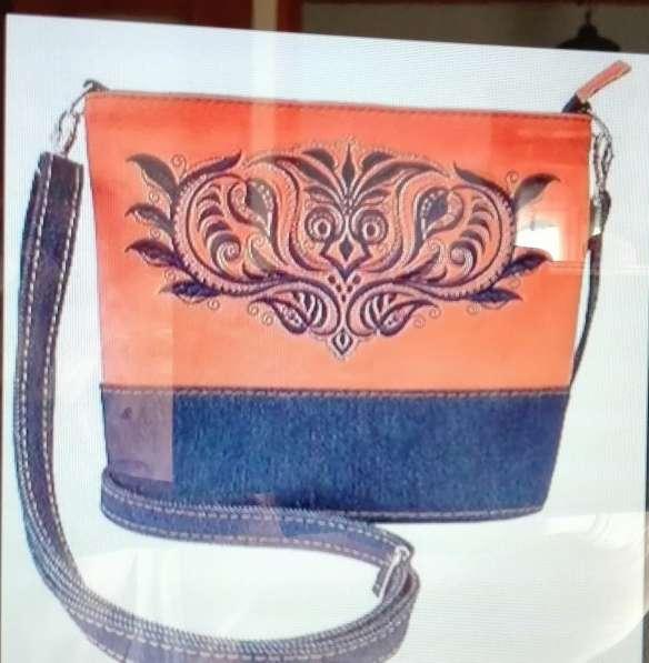 Эксклюзивные женские сумки ручной работы из льна,джинсы,кожи в Москве фото 8