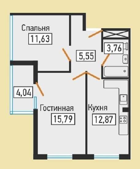 Продам 2 к. кв., г. Краснодар, ЦМР, ул. Дмитриевская Дамба