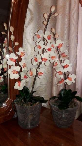 Орхидеи из холодного фарфора в фото 4