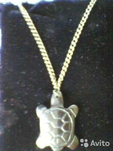 """Подарок-Кулон""""черепаха""""(гематит)целебного свойства"""