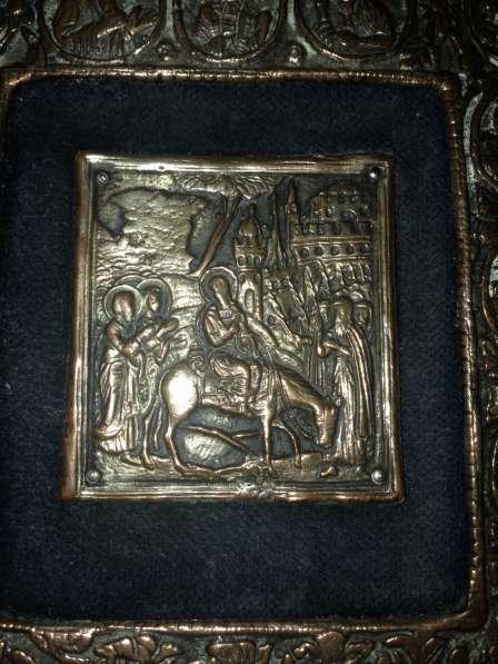 Икона Медь. 13 см. х11 см. Клеймо