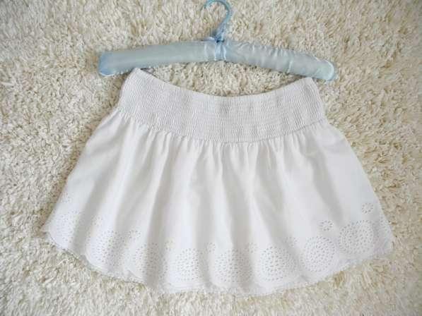 Красивенная белоснежная юбка с кружевом Clockhouse в фото 4