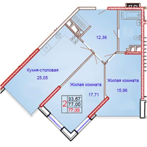 2-комнатная квартира бизнес-класса с шикарной планировкой