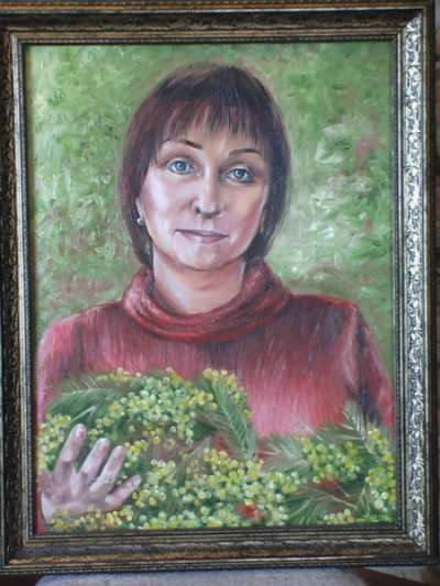 Портрет по фото. Роспись стен в Омске фото 8