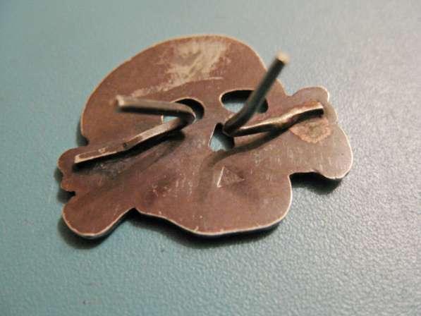 Эмблема и мертвая голова на фуражку эсэсовца (серебро) в