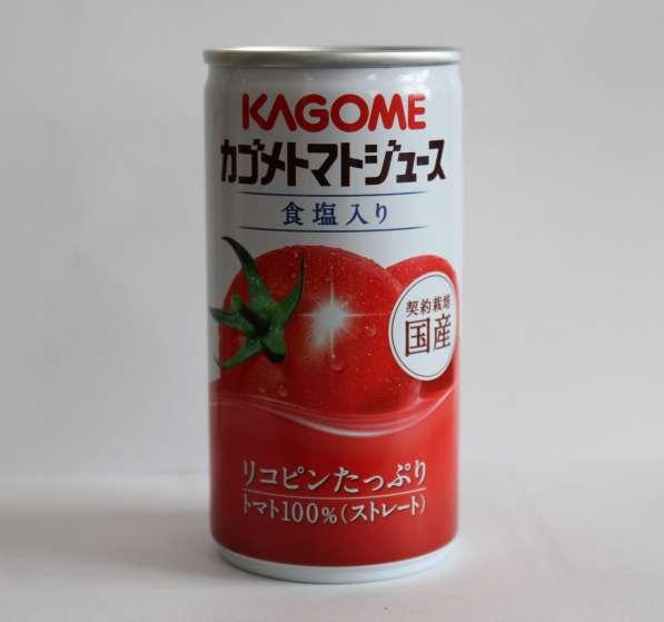 Томатный сок с солью TM KAGOME в жестяной банке, 190 мл