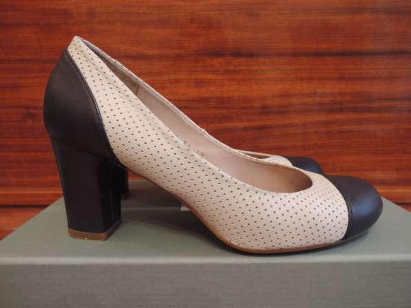 Туфли Aura. бело-синие. 36 размер